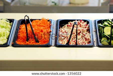 Colorful salad bar. - stock photo