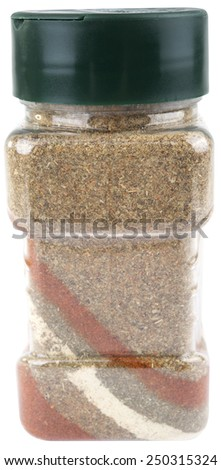 colorful salt. isolated on white background. - stock photo