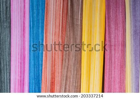 Colorful sarongs (balinese cloth), Bali, Indonesia - stock photo