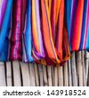 Colorful scarves. Costa Rica, Central America. Travel / fashion concept - stock photo