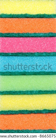 Colorful scourers. - stock photo