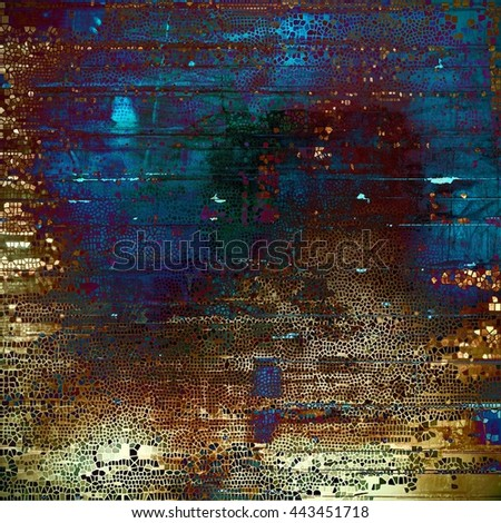 Colorful scratched background or grungy texture. With different color patterns: yellow (beige); brown; green; blue; red (orange); purple (violet) - stock photo