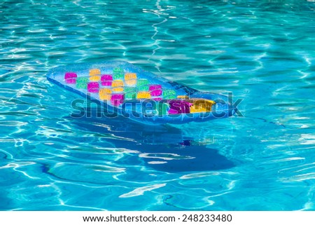 Colorful Sea Mattress in the pool