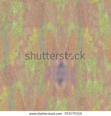 Colorful Seamless Grunge Pattern. Abstract Messy Painted Antique Texture