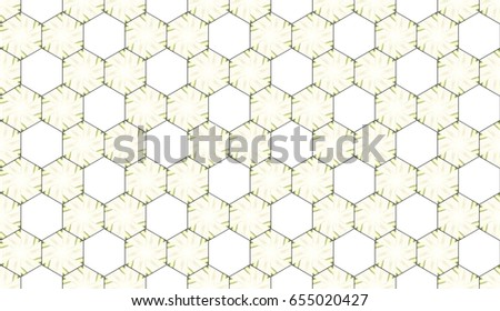 Colorful seamless horizontal hexagonal pattern
