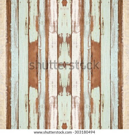 Colorful seamless old wood planks texture, can be used for background - stock photo