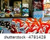Colorful selective focus graffiti concept - stock photo