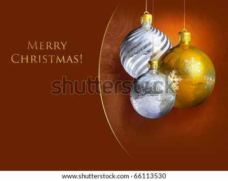 Colorful shiny christmas baubles. - stock photo