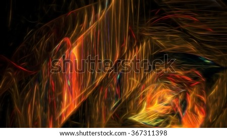 Colorful shiny fractal effect - stock photo