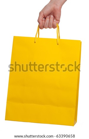 Colorful shopping bag on a white background - stock photo