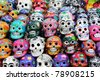 colorful skull from mexican tradition - stock photo