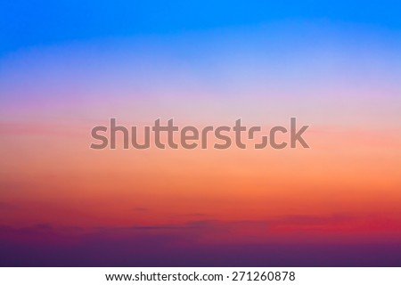 Colorful Sky After Sunset. Natural Sky Background. - stock photo
