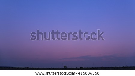 Colorful sky after the sunset. Natural Background.