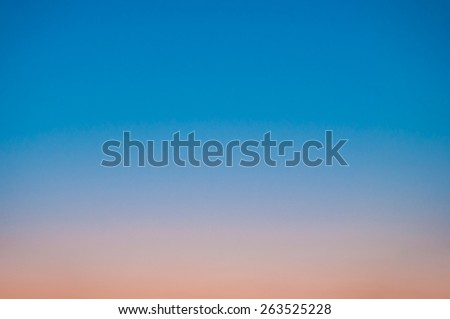 Colorful sky after the sunset. Natural Sky Background - stock photo