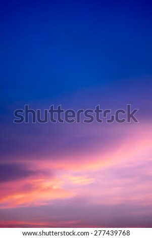 Colorful sky after the sunset. Natural Sky Background.blurry sty - stock photo