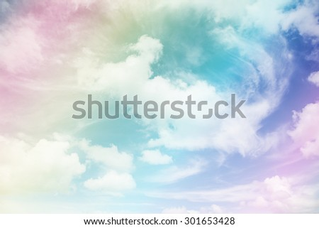 Colorful sky and clouds. - stock photo