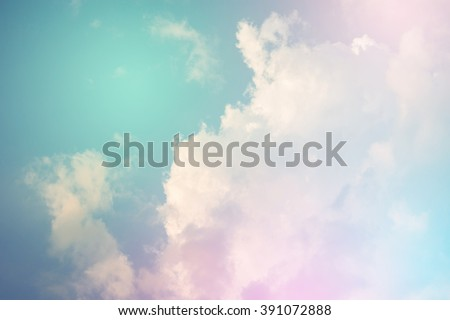 Colorful sky and pastel color with cloud background. - stock photo