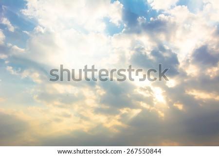 Colorful sky and sunrise - stock photo