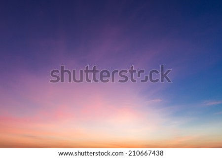 Colorful sky during sunset. - stock photo