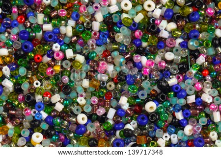 Colorful small beads
