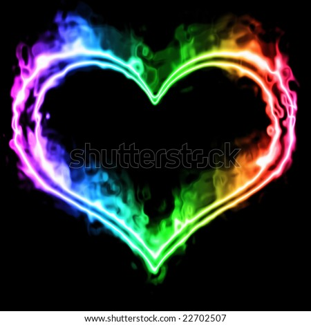 Colorful Smoke Heart Stock Illustration 22702507 ...