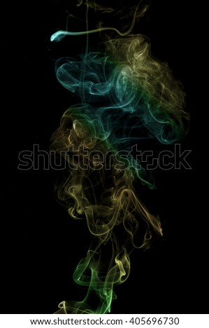 Colorful smoke on the black background. Collection backgrounds colored smoke on a black background. Abstract background - stock photo