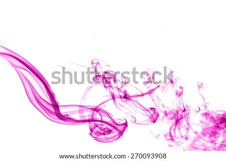 colorful smoke on white background. - stock photo