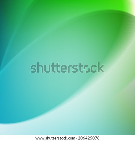 Colorful smooth twist light lines green background. Design Template - stock photo