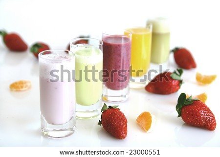 Colorful smoothies - stock photo