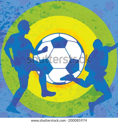 Colorful soccer background  - stock photo