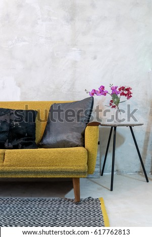 Yellow Rustic Living Room