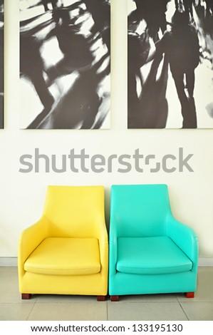 Colorful sofa seats - stock photo