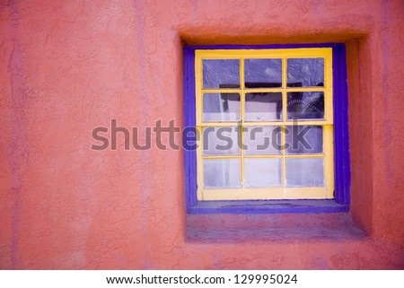 Colorful southwestern architecture in Tucson, Arizona - stock photo