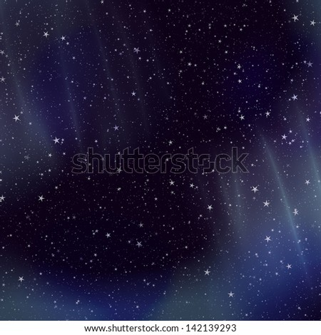 Colorful space background with star field and gas congestion.