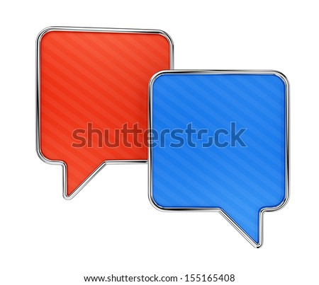 Colorful speech bubbles isolated on white background. Web communication and chatting concept.