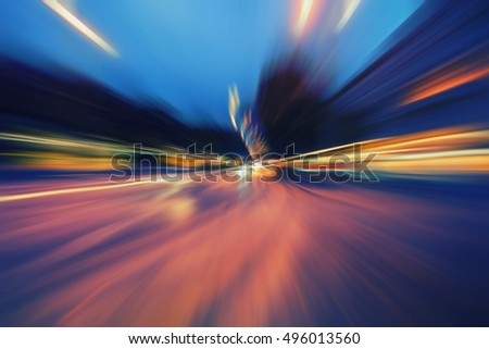 colorful speed traffic background,traffic at night in the city ,light trace