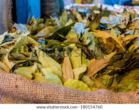 Colorful spice market in Old Dhaka, Bangladesh - stock photo