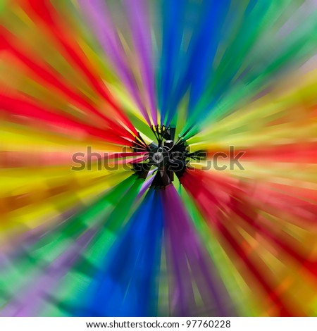 Colorful Spinner - motion blur