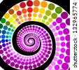 Colorful spiral of circles. Raster - stock vector