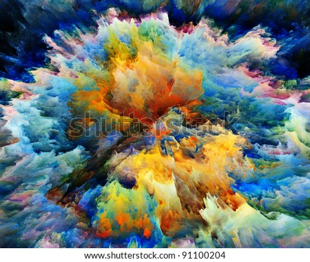 Colorful splatter of digital paint with fine texture suitable as backdrop for art projects