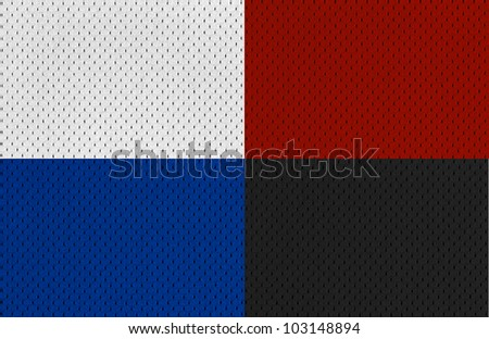 Colorful Sports Jersey textures XXL - stock photo