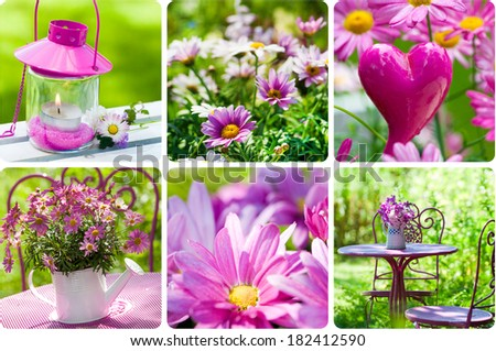 Colorful spring collage