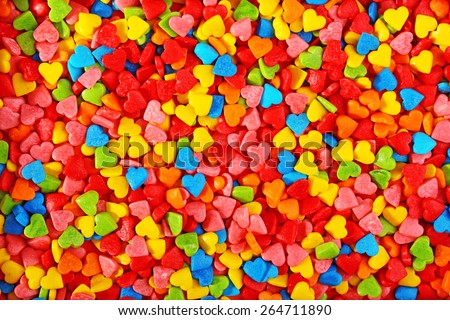 Colorful sprinkles background - stock photo