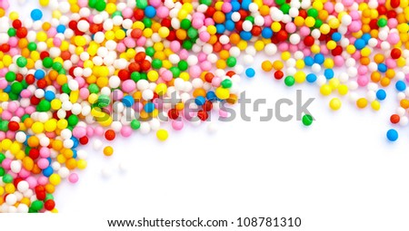 Colorful sprinkles making a frame - stock photo