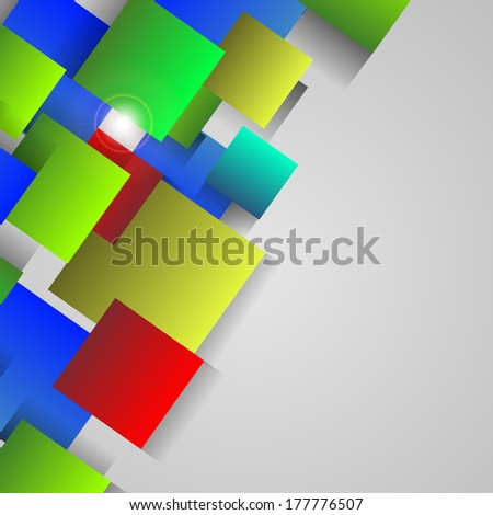 colorful square abstract background