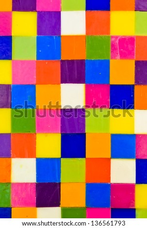 Colorful square candle background