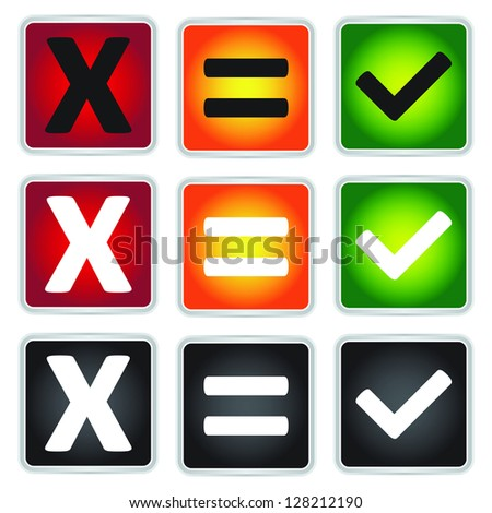 Colorful Square Icon For Customer Satisfaction Survey Concept Isolated on White Background - stock photo