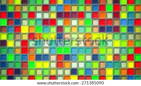 colorful squares. computer generated abstract background - stock photo
