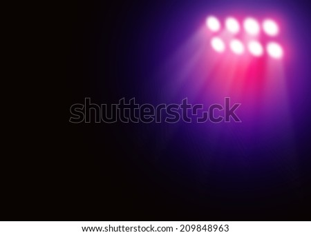 Colorful stage light background