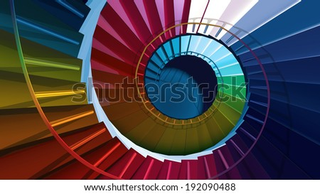 Colorful stairs design - stock photo